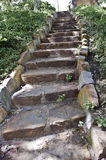 Brown Stone Rock Stairway Royalty Free Stock Images
