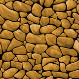 Brown stone seamless background Royalty Free Stock Photos