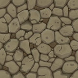 Brown stone seamless background Royalty Free Stock Images