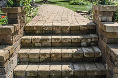 Brown stone steps Royalty Free Stock Photo
