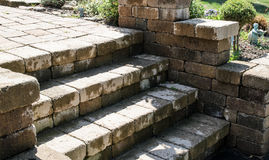 Brown stone steps Stock Images