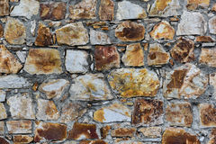 Brown stone texture. Texture of the brown stone wall Royalty Free Stock Photography