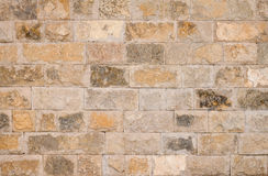 Brown stone wall Royalty Free Stock Images