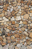 Brown stone wall. Stock Photo