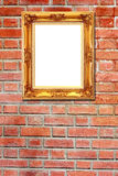 Brown stone wall background with frame. The brown stone wall background with frame Royalty Free Stock Photography