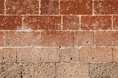 Brown stone wall for background Royalty Free Stock Photos