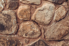 Brown stone wall background Royalty Free Stock Photos