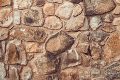 Brown stone wall background Stock Images
