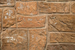 Brown stone wall background texture Royalty Free Stock Photos