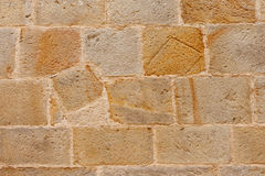 Brown Stone Wall Stock Image