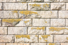 Brown stone wall. Royalty Free Stock Images