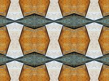 Brown stone wall tile pattern background. Royalty Free Stock Photography