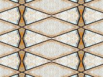 Brown stone wall tile pattern background. Royalty Free Stock Images
