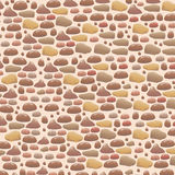 Brown stone walls background and texture  Royalty Free Stock Images