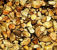 Brown stones. Pebbles or stones with a brown color Royalty Free Stock Photography