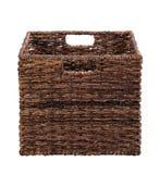 Brown storage basket Royalty Free Stock Photography