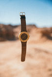 Brown Strap Analog Watch Stock Images