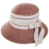 Brown straw bowler hat. Summer cap. Isolated on white background and PNG file with transparent background royalty free stock image