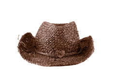Brown straw cowboy hat Stock Image