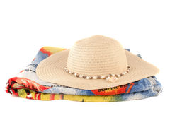 Brown straw cowboy hat Royalty Free Stock Photography