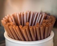 Brown Straws stock image