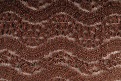 Brown stretch lace fabric Stock Image