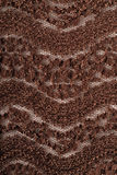 Brown stretch lace fabric, close up, texture Stock Images