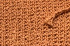 Brown-Strickgarnbeschaffenheit Lizenzfreies Stockbild