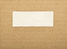 Brown striped cardboard paper texture with copy space Royalty Free Stock Image
