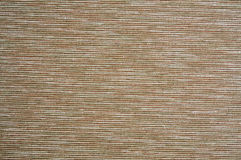 Brown striped cotton. Brown cotton fabric with horizontal stripes Stock Photography