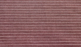 Brown striped fabric texture Royalty Free Stock Photos