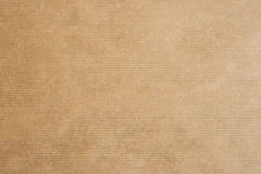Brown striped kraft paper Royalty Free Stock Image