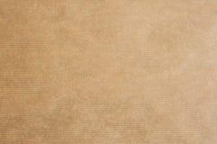 Brown striped kraft paper Royalty Free Stock Image