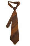 Brown striped tie Stock Photography