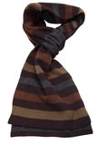 Brown striped wool scarf Royalty Free Stock Photography
