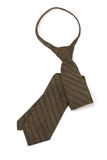 Brown stripped neck tie Stock Image