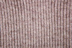 Brown structure of  woolen fabric Royalty Free Stock Photography