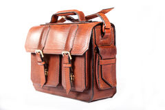 Brown stylish briefcase Royalty Free Stock Image