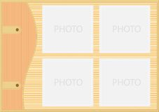 Brown stylish picture frame Stock Photos