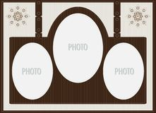 Brown stylish picture frame Stock Photography