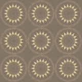 Brown stylized flower pattern Royalty Free Stock Photo