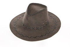 Brown suede hat Royalty Free Stock Photo