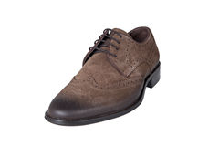 Brown Suede Men Shoe Stock Image
