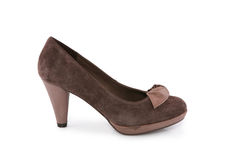 Brown suede shoe Royalty Free Stock Image