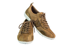 Brown suede shoes Royalty Free Stock Photography