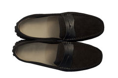 Brown suede  shoes Stock Images