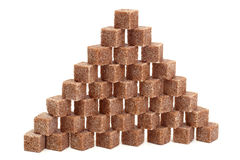 Brown sugar. Wall from pieces of brown sugar Royalty Free Stock Photo