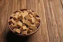 Brown sugar in bowl Royalty Free Stock Photo