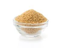 Brown sugar in bowl Royalty Free Stock Photos