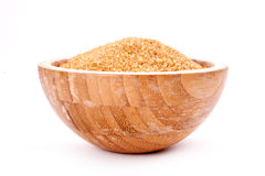 Brown sugar in bowl Stock Photography
